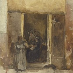 James-McNeil-Whistler-Figures-in-a-Doorway