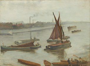 James McNeil Whistler Grey and Silver Old Battersea Reach Wandbild