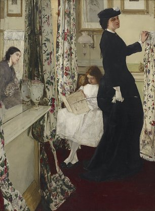 James McNeil Whistler Harmony in Green and Rose The Music Room Wandbild