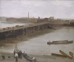 James McNeil Whistler James Brown and Silver Old Battersea Bridge Wandbild