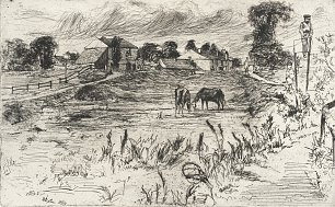 James McNeil Whistler Landscape with the Horse Wandbild