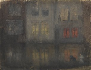 James McNeil Whistler Nocturne Black and Red Back Canal Holland Wandbild