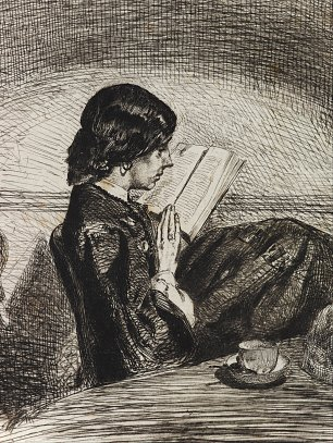 James McNeil Whistler Reading by Lamplight