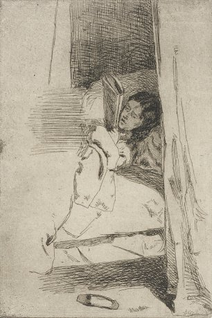 James McNeil Whistler Reading in Bed