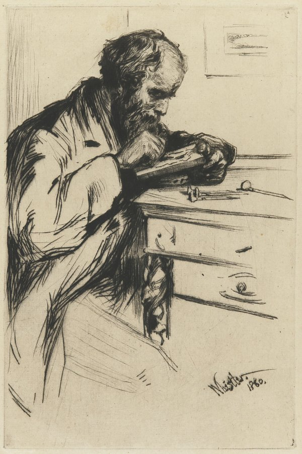 James McNeil Whistler The Wood Engraver by J A McN