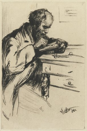 James McNeil Whistler The Wood Engraver by J A McN Wandbild