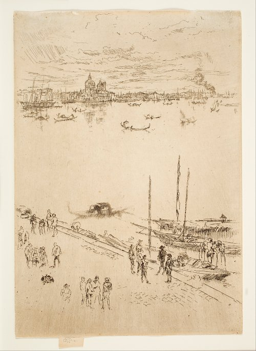 James McNeil Whistler Upright Venice from the Twenty Six Etchings Wandbild
