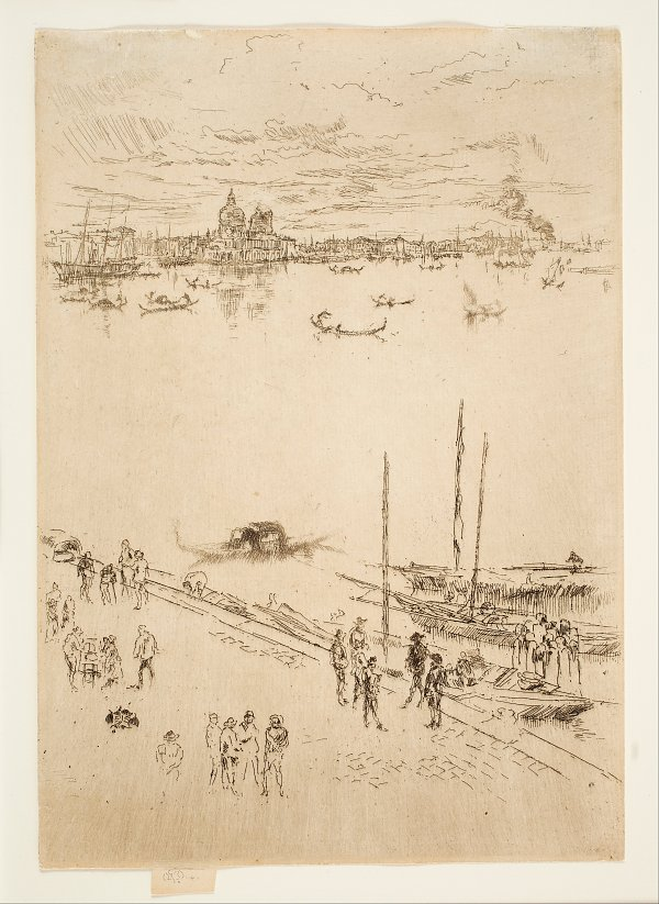 James McNeil Whistler Upright Venice from the Twenty Six Etchings