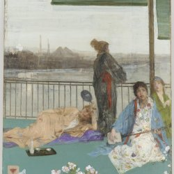James-McNeil-Whistler-Variations-in-Flesh-Colour-and-Green-The-Balcony