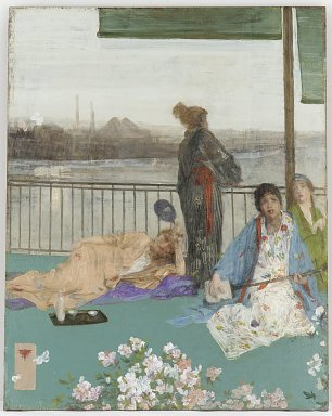 James McNeil Whistler Variations in Flesh Colour and Green The Balcony Wandbild