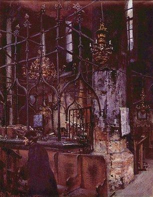 Adolph Menzel Alte Synagoge zu Prag Wandbilder