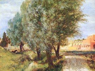 Adolph Menzel Bauplatz mit Weiden Wandbilder