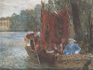 Adolph Menzel Bootsfahrt in Rheinsberg Wandbilder