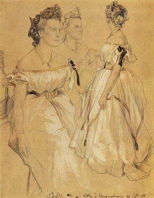 Adolph Menzel Drei Ehrenjungfrauen Wandbilder