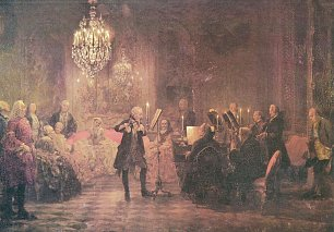 Adolph Menzel Floetenkonzert Friedrichs des Grossen in Sanssouci Wandbilder