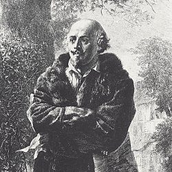 Adolph-Menzel-Der-Dichter-William-Shakespeare