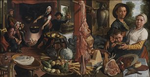 Aertsen Pieter The Fat Kitchen An Allegory Wandbild