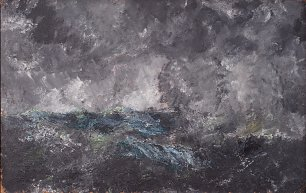 August Strindberg Storm in the Skerries The Flying Dutchman Wandbild