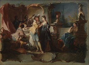 Baumgartner Johann Wolfgang The Prodigal Son Living with Harlots Wandbild