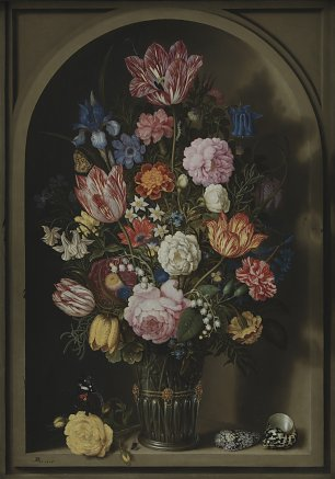 Bosschaerts Ambrosius the Elder Bouquet of Flowers in a Stone Niche Wandbild