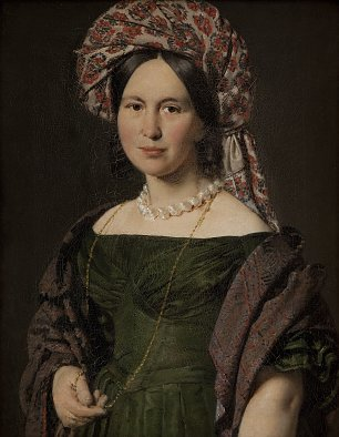 C A Jensen Cathrine Jensen nee Lorenzen the Artists Wife Wearing a Turban Wandbild