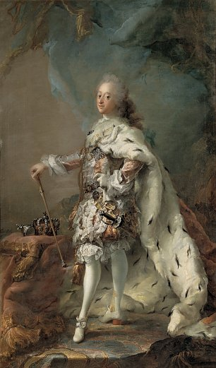 C G Pito Portrait of Frederik V in Anointment Robe Wandbild