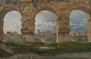 C W Eckersberg A View through Three Arches of the Third Storey of the Colosseum Wandbild