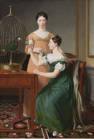 C W Eckersberg Mendel Levin Nathansons Elder Daughters Bella and Hanna Wandbild