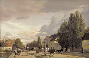 Christen Kobke View of a Street in Osterbro outside Copenhagen. Morning Light Wandbild