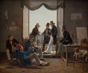 Constantin Hansen A Group of Danish Artists in Rome Wandbild