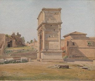 Constantin Hansen The Arch of Titus in Rome Wandbild