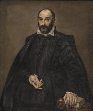 El Greco Portrait of a Man Wandbild
