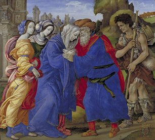 Lippi Filippino he Meeting of Joachim and Anne outside the Golden Gate of Jerusalem
