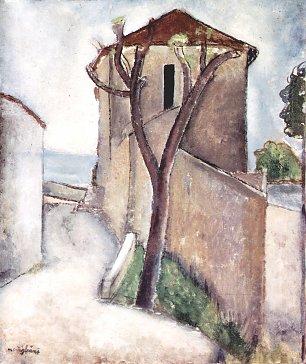Amedeo Modigliani Baum und Haus Wandbilder