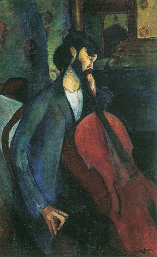 Amedeo Modigliani Der Cellist Wandbild