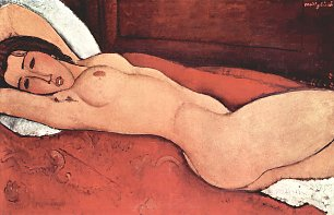 Amedeo Modigliani Liegender akt 4