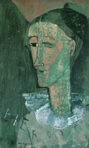 Amedeo Modigliani Pierrot
