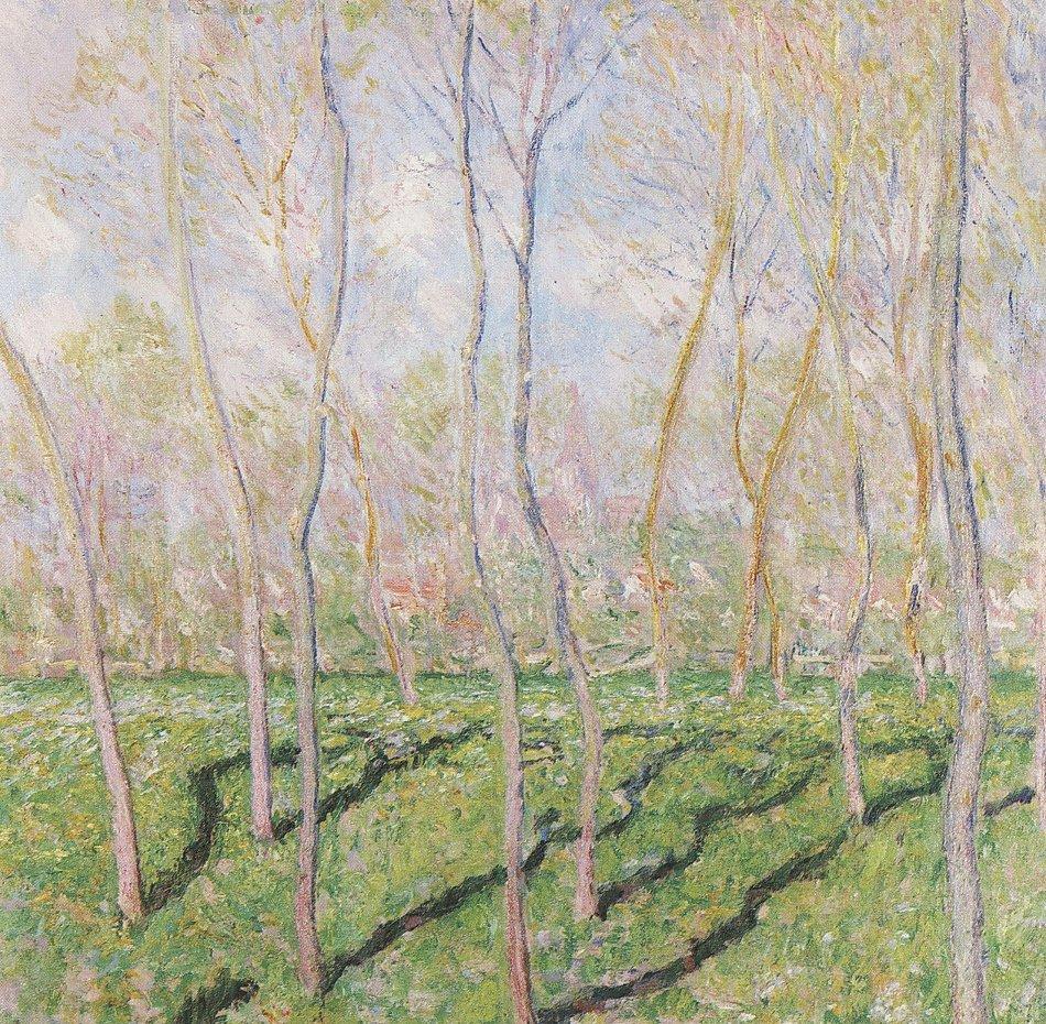 Claude Monet Baeume im Winter Blick auf Bennecourt Wandbild kaufen