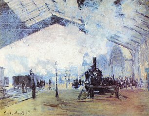 Claude Monet Bahnhof Saint Lazare in Paris Wandbild