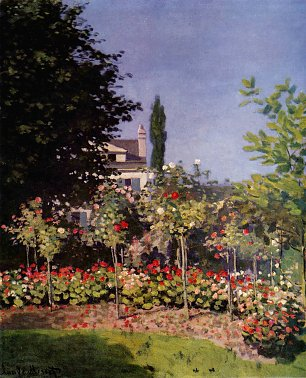 Claude Monet Bluehender Garten in Sainte Adresse