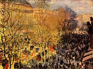 Claude Monet Boulevard des Capucines in Paris