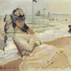 Claude-Monet-Camille-am-Strand-von-Trouville