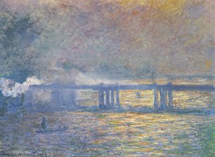 Claude Monet Charing Cross Bridge Wandbild