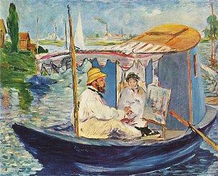 Claude Monet Claude Monet in seinem Atelier Wandbilder