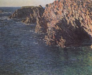 Claude Monet Grotte De Port Domois