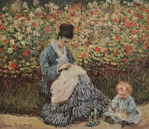 Claude Monet Madame Monet und Kind