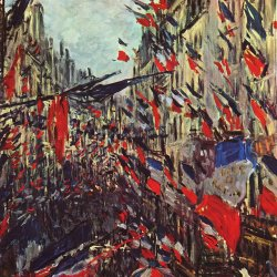 Claude-Monet-Rue-Saint-Denis-am-Nationalfeiertag