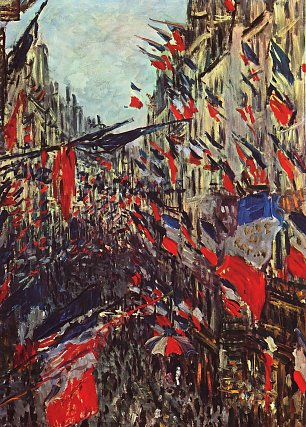 Claude Monet Rue Saint Denis am Nationalfeiertag Wandbild
