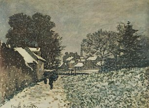 Claude Monet Schnee in Argenteuil