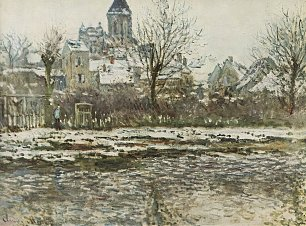 Claude Monet Schnee in Vetheuil
